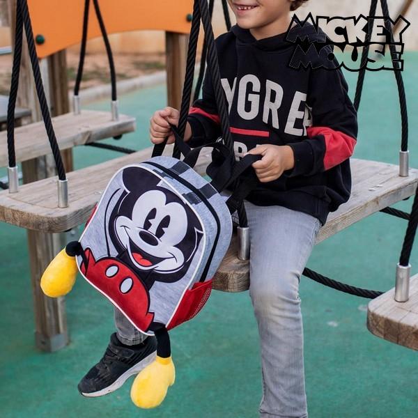 3D-Laste seljakott Mickey Mouse Hall Punane