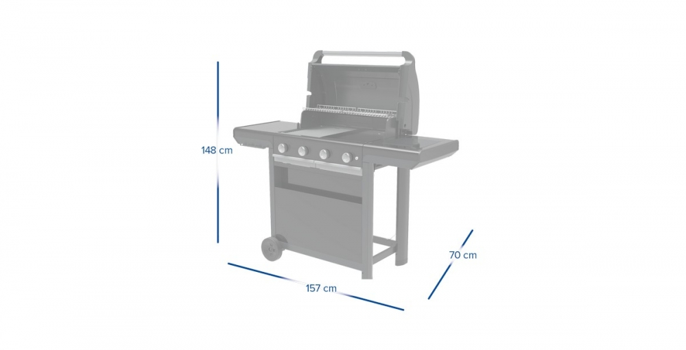 4 Series Select S (INT) grey gaasigrill