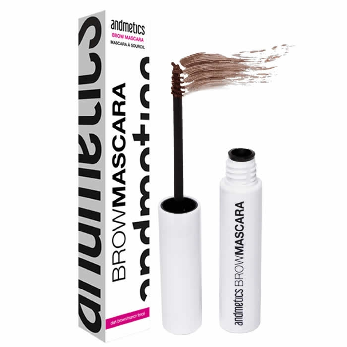Andmetics Brow Mascara kulmutušš, Light Brown