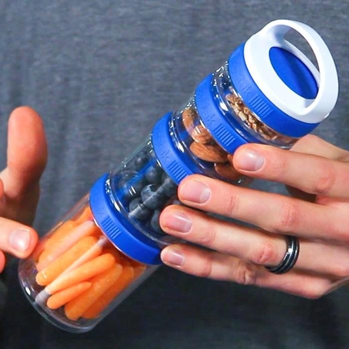 BlenderBottle Storage GoStak Starter Pak, Sinine (40 ml + 60 ml + 100 ml + 150 ml)