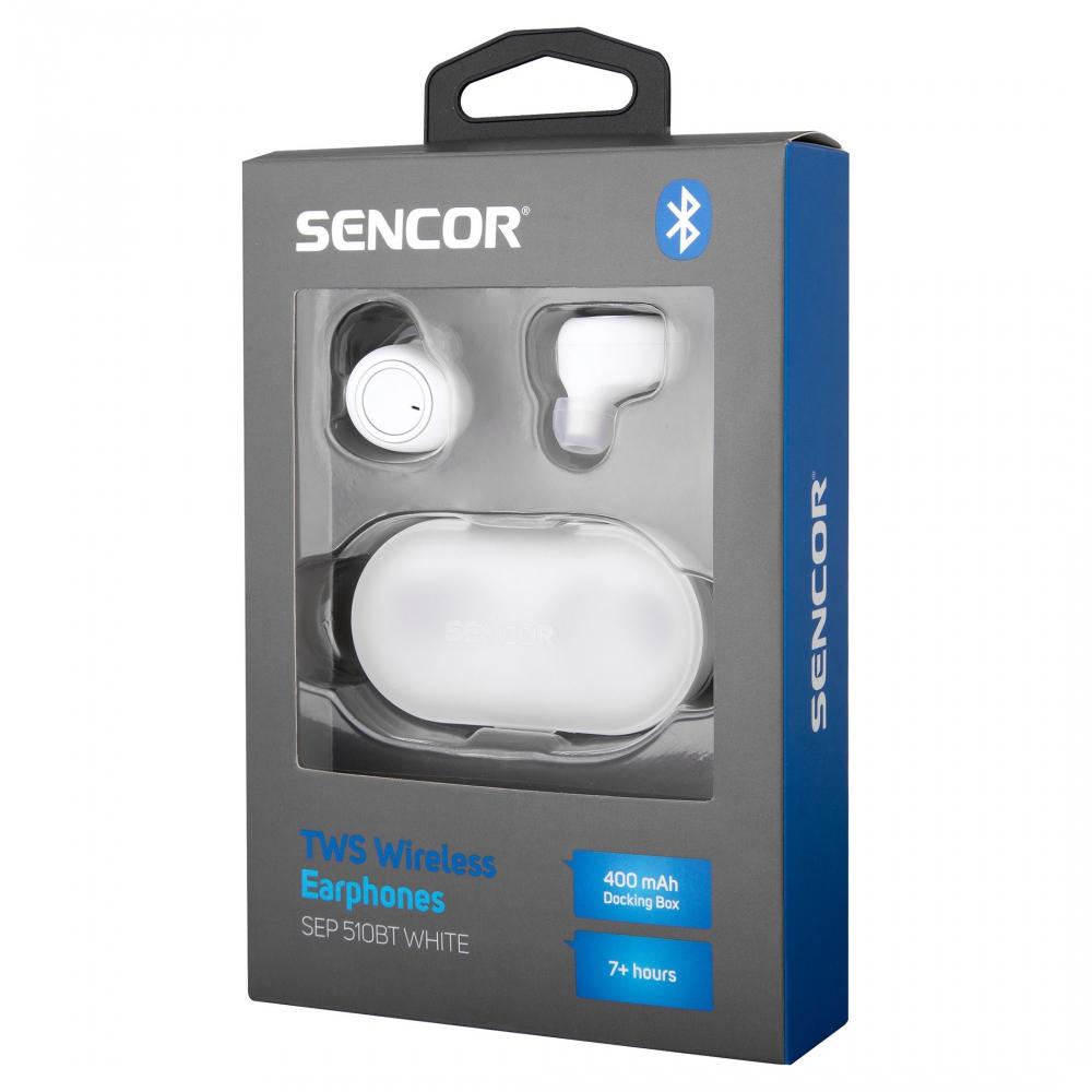 Bluetooth kõrvaklapid Sencor SEP510BTWH valge