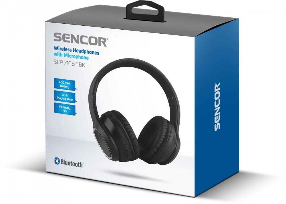 Bluetooth kõrvaklapid Sencor SEP710BTBK