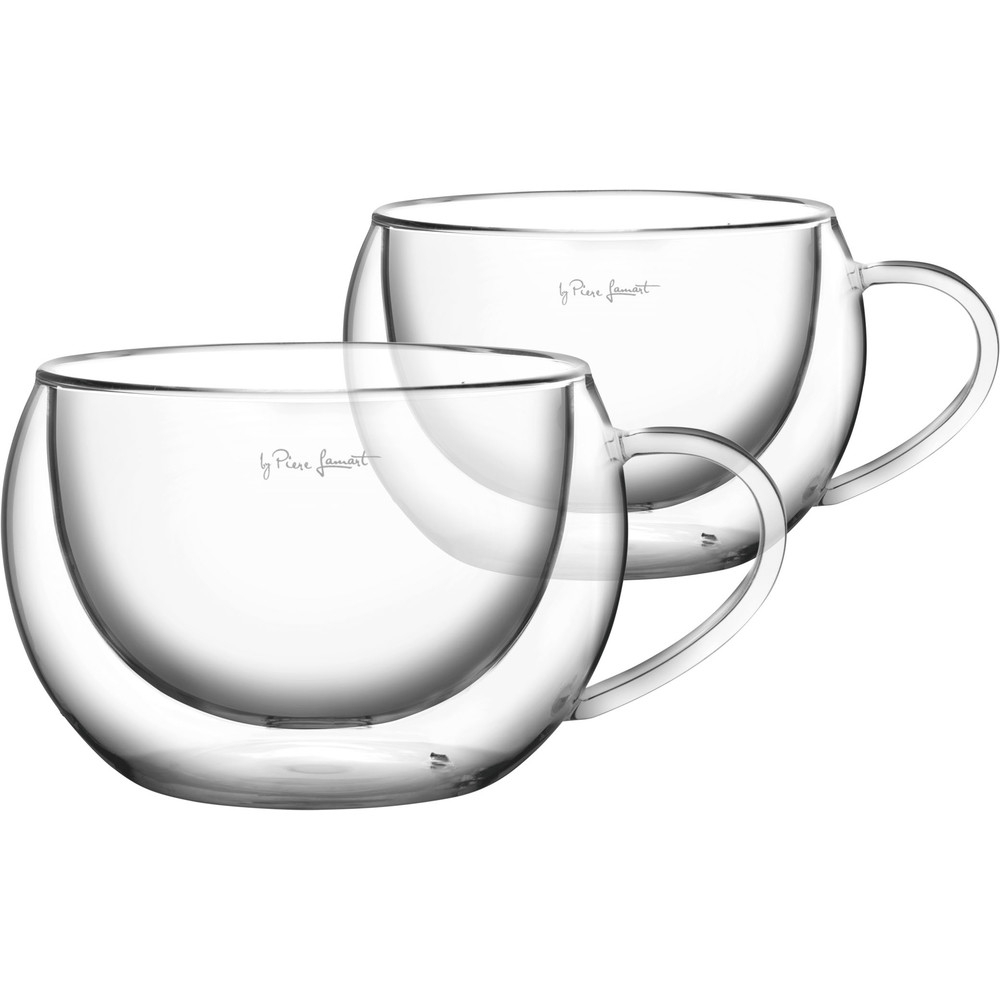 Boorsilikaadist cappuccino tassid 2x270ml Vaso Lamart LT9012