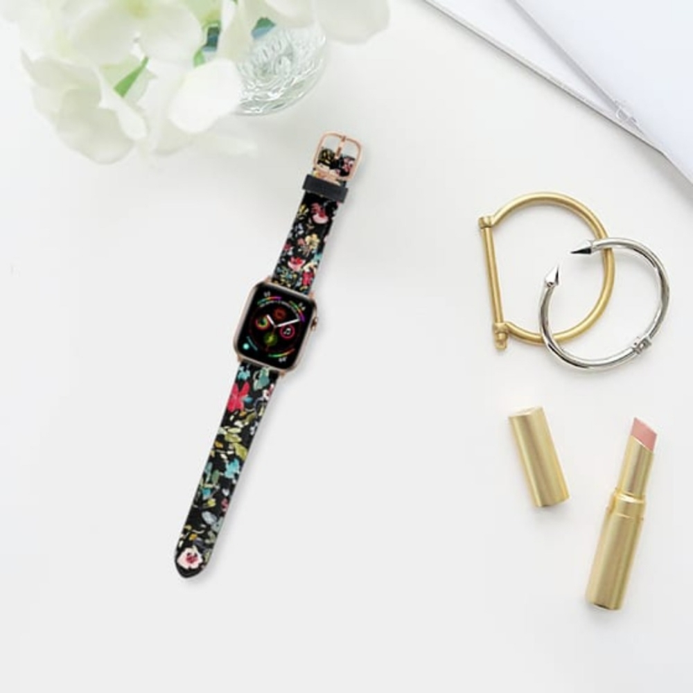 Casetify Saffiano Watchband V4 38mm/40mm Jewel Tones Watch Band-Gold