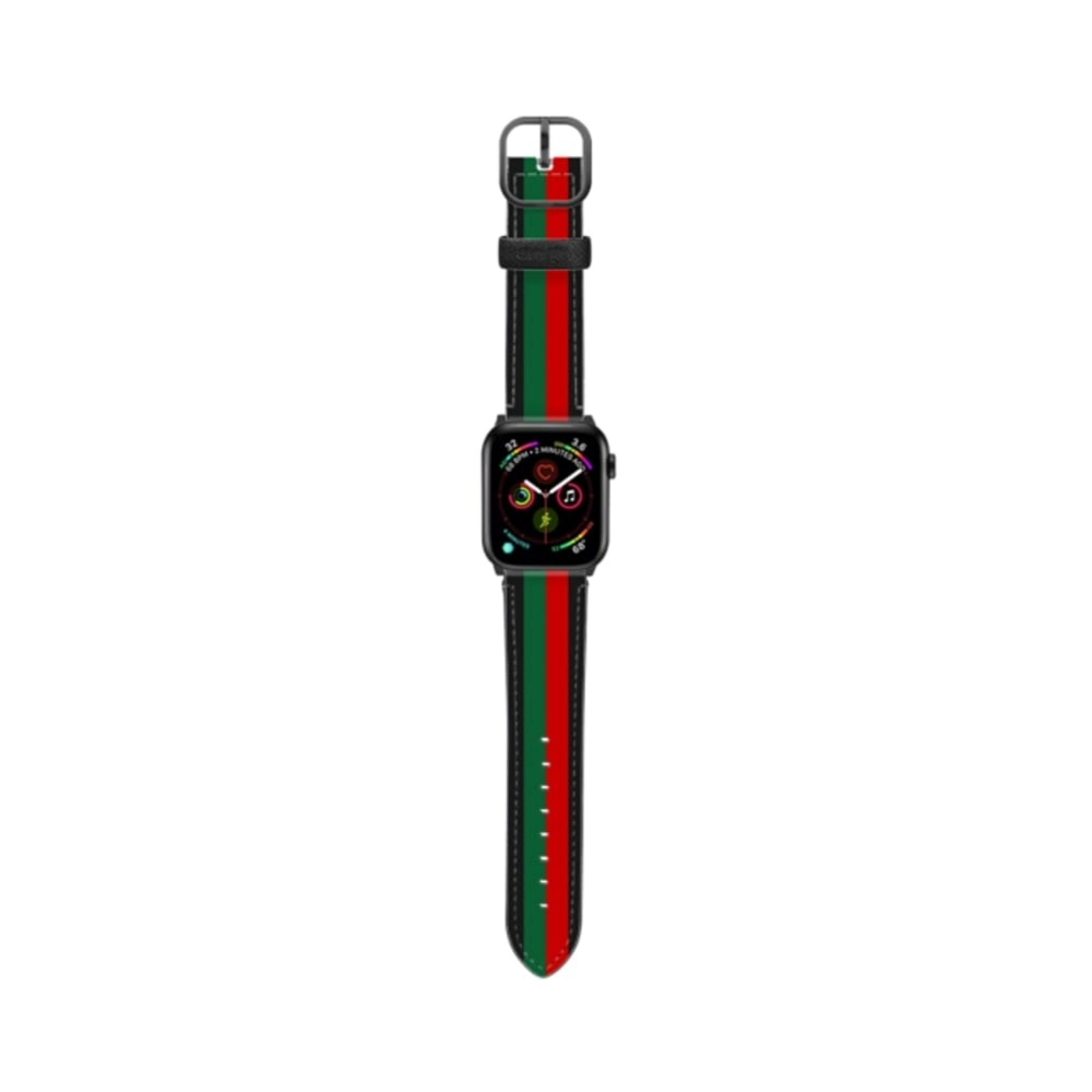 Casetify Saffiano Watchband V4 42mm/44mm Chic Stripe 1-Space Gray