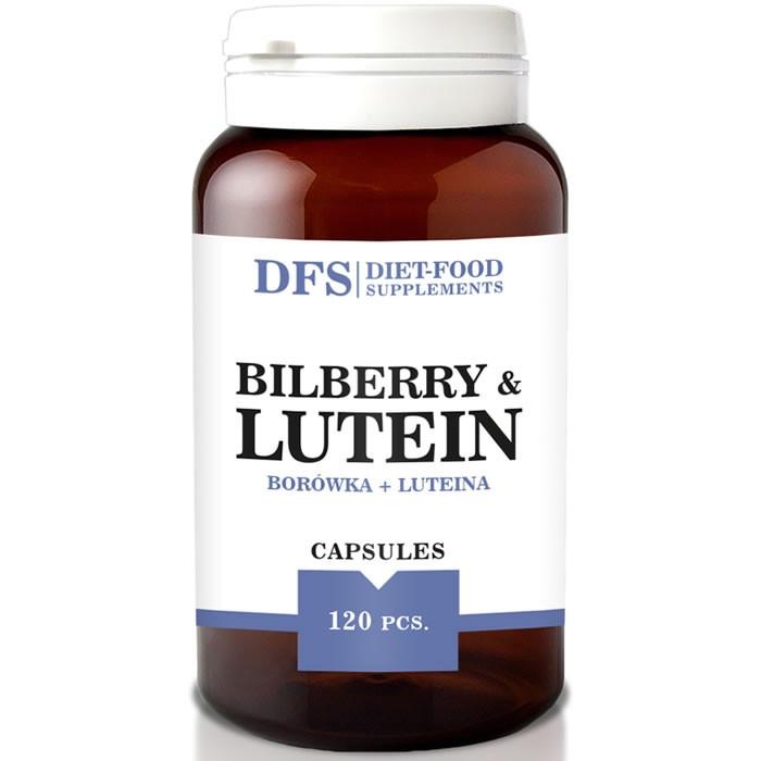 Diet Food Bilberry+Lutein 500mg softgel kapslid mustikaekstrakti ja luteiiniga (120 tk)