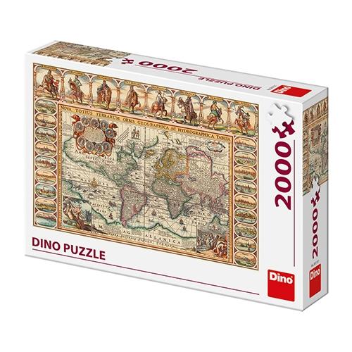 Dino pusle 2000 tk Ajalooline maailmakaart