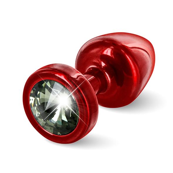 Diogol - Anni Butt Plug Round 25 mm Red & Black