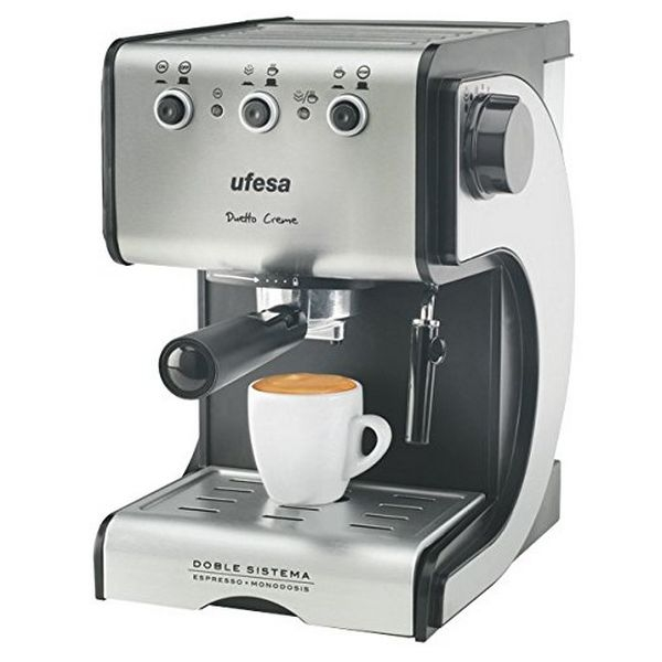 Ekspress Manuaalne Kohvimasin UFESA CE7141 1,5 L 15 bar 1050W Must Hõbedane Roostevaba teras