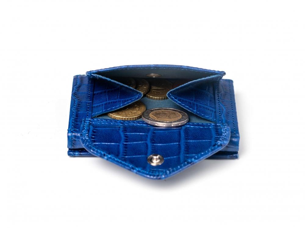 Exentri krokodillimustriga sinine nahast Multi rahakott