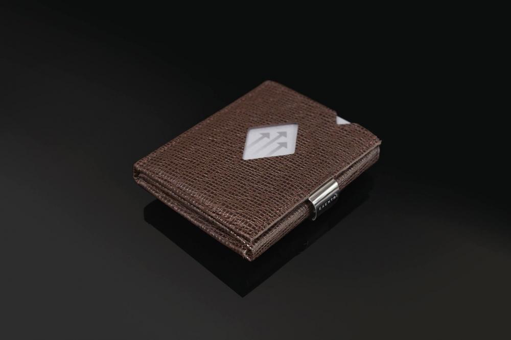 Exentri mosaiikmustriga pruun nahast rahakott