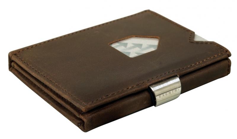 Exentri Nubuck pruun nahast rahakott