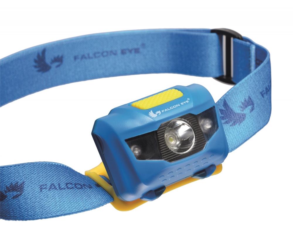 Falcon Eye pealamp, 110 lm, patareidega (3x AAA), 1 x 3W LED + 2 x red LED,blister