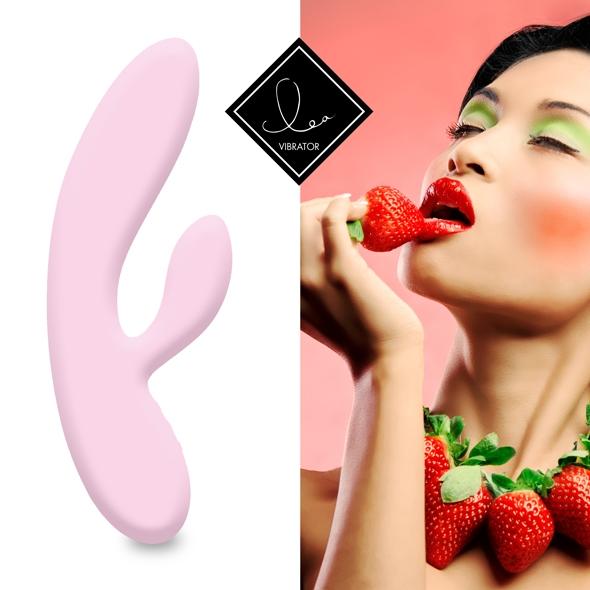 FeelzToys - Lea Rabbit Vibrator Strawberry
