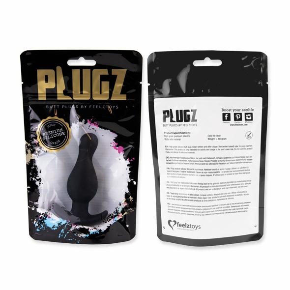 FeelzToys - Plugz Butt Plug Black Nr. 2