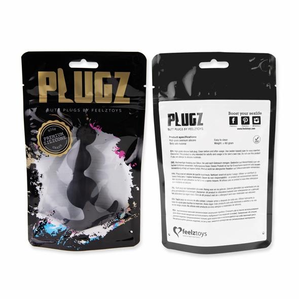 FeelzToys - Plugz Butt Plug Black Nr. 4