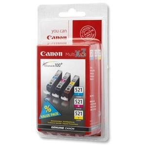 INK CARTRIDGE COLOR CLI521/MULTIPACK 2934B007 CANON