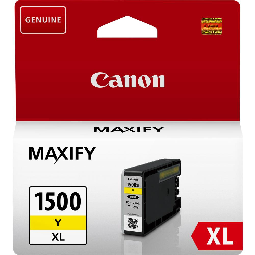 INK CARTRIDGE YELLOW PGI-1500/XL 9195B001 CANON