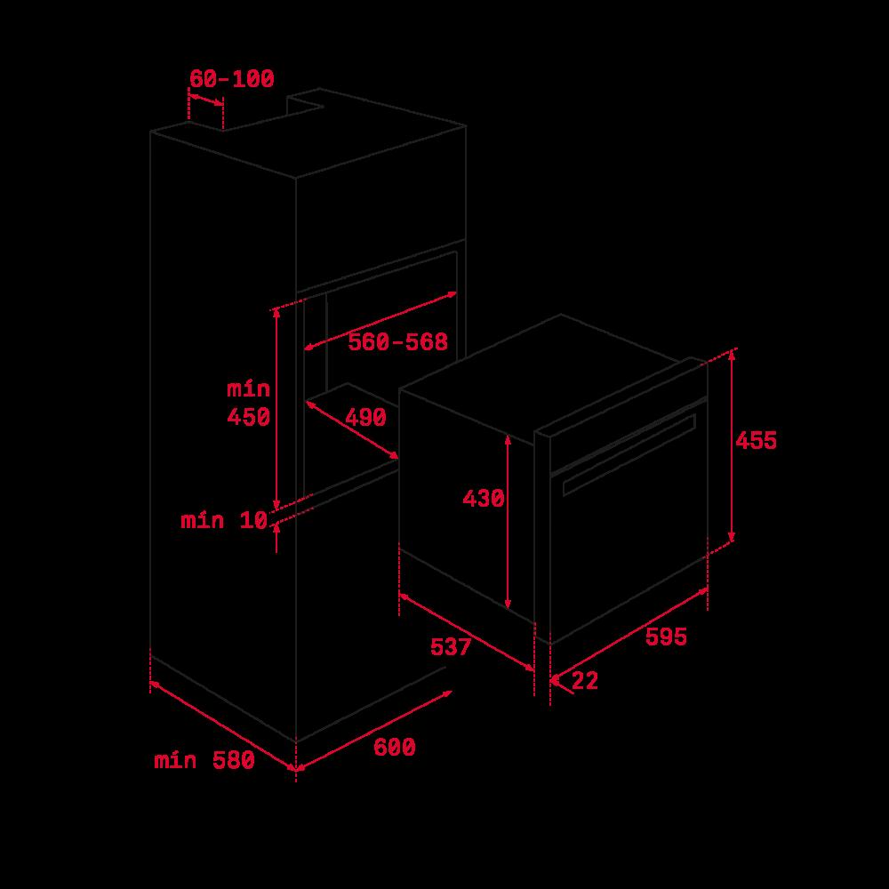 Integreeritav ahi+mikrolaineahi Teka HLC8440CST kivihall