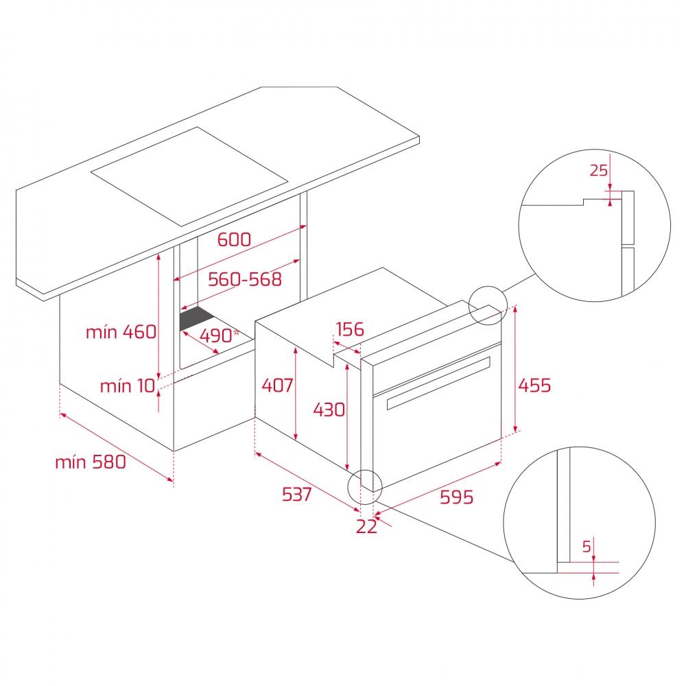 Integreeritav kompakt auruahi Teka HSC644S