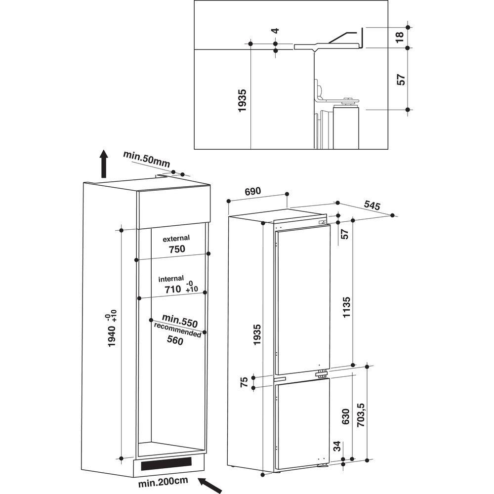 Integreeritav külmik Whirlpool SP40801EU1