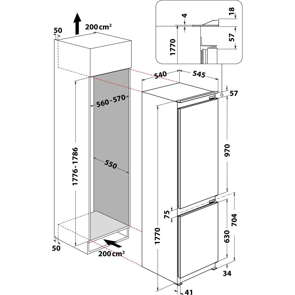 Integreeritav külmik Whirlpool ART6711SF2