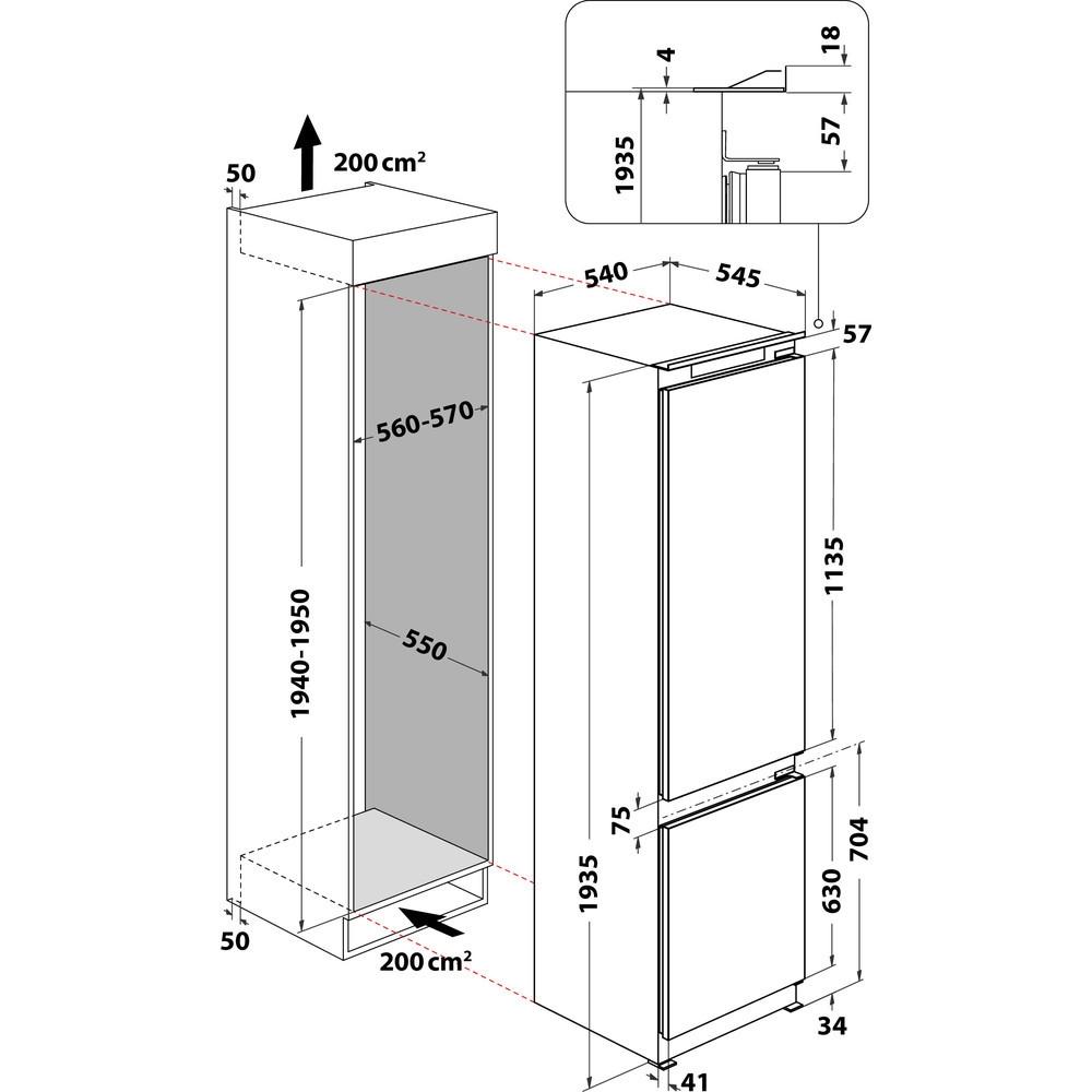 Integreeritav külmik Whirlpool ART9811SF2