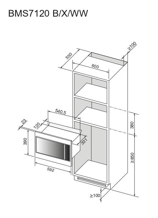Integreeritav mikrolaineahi Brandt BMS7120B