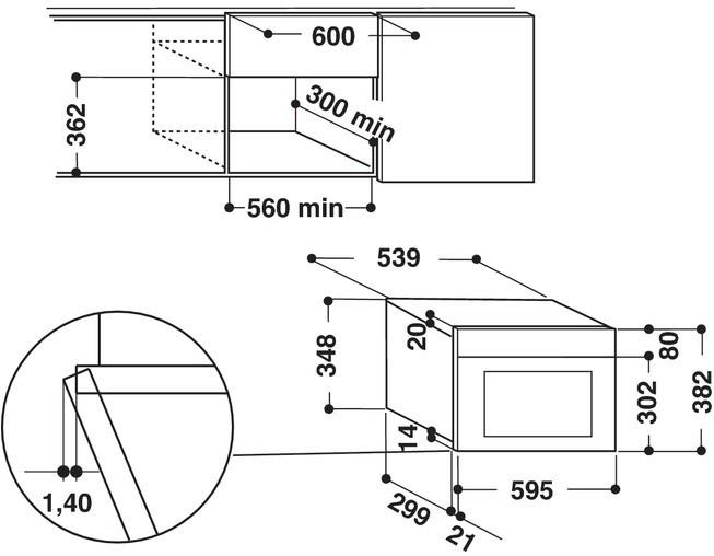 Integreeritav mikrolaineahi Whirlpool AMW498NB