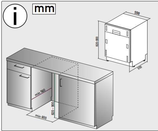 Integreeritav nõudepesumasin Whirlpool WIO3T122PES