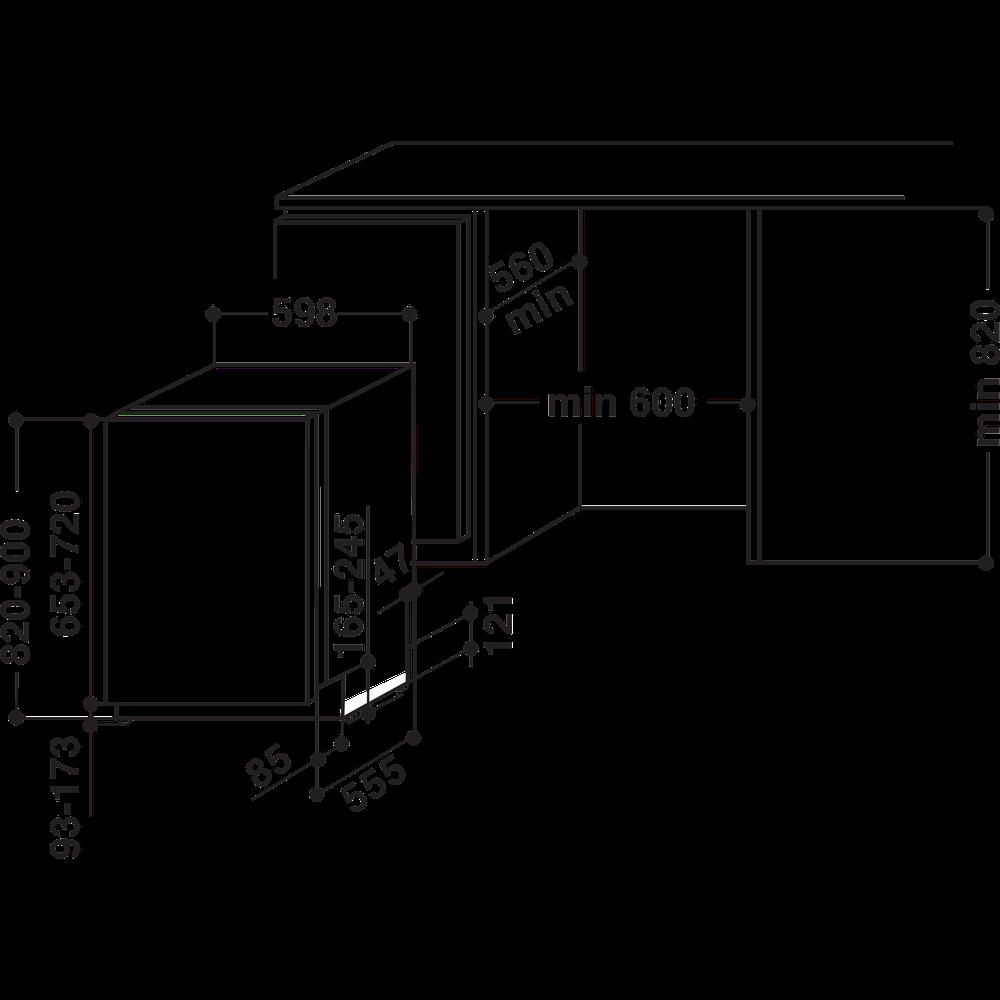 Integreeritav nõudepesumasin Whirlpool WIC3C22
