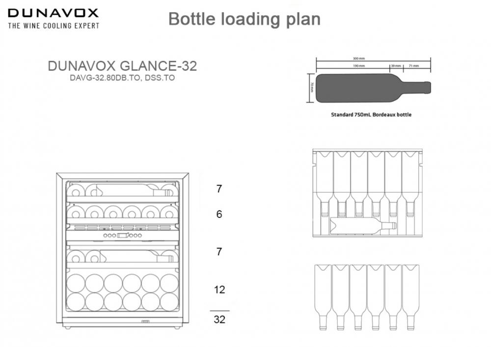 Integreeritav veinikülmik Dunavox DAVG-32.80DB.TO