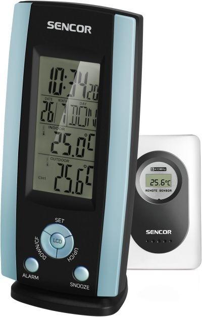 Juhtmeta kell-termomeeter Sencor SWS21BU