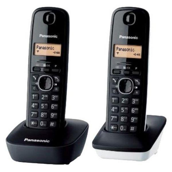 Juhtmevaba Telefon Panasonic KX-TG1612SP1 Must Valge (2 pcs)