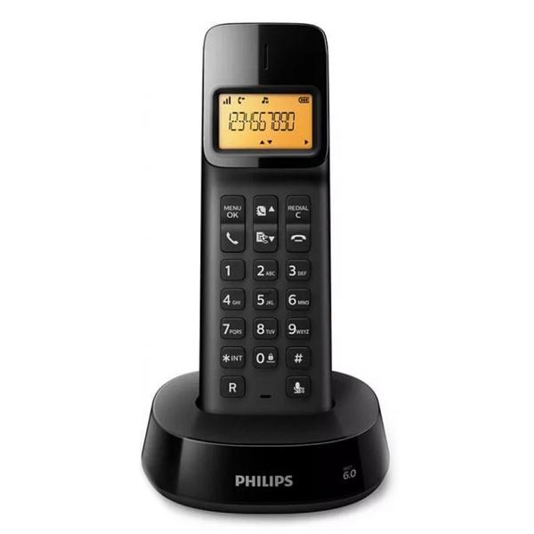 """Juhtmevaba Telefon Philips D1601B/01 1,6"""" 300 mAh GAP Must"""