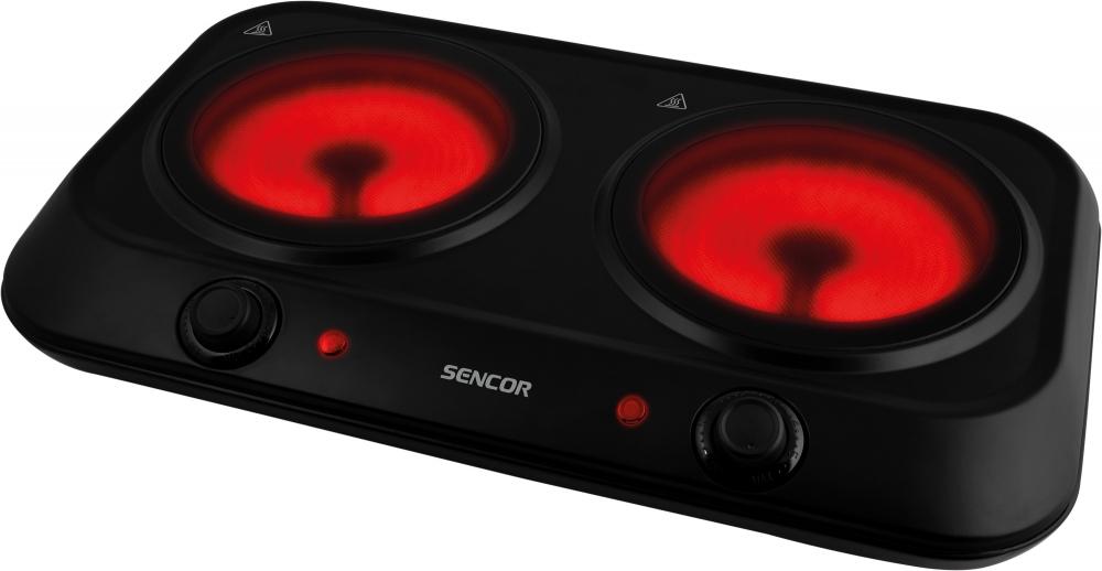 Keraamiline lauapliit Sencor SCP2263 2 tsooniga must