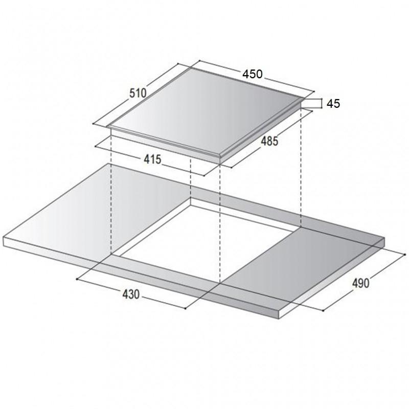 Keraamiline pliidiplaat Schlosser CTS5001WH
