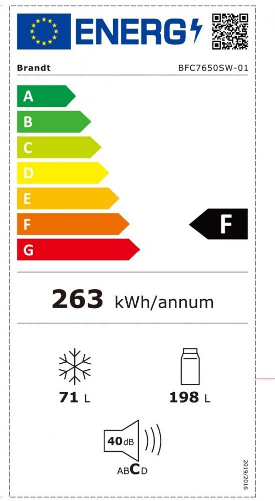 Külmik Brandt BFC7650SX