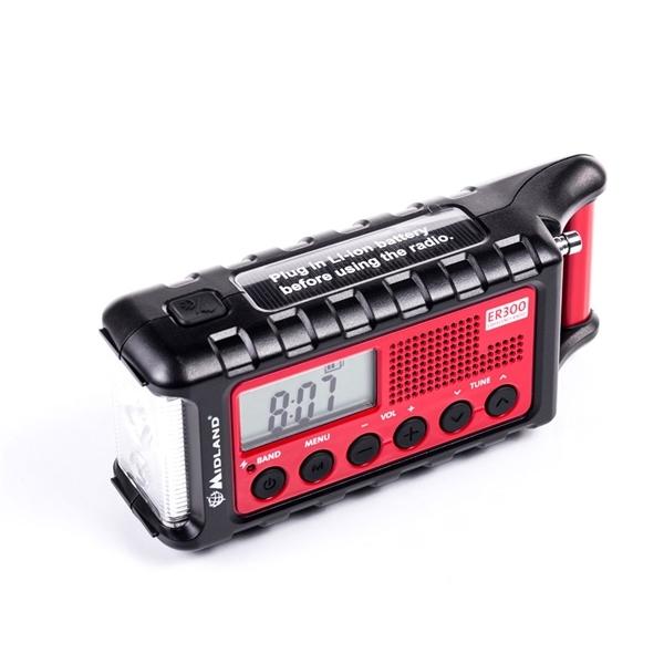 Midland ER300 hädaabi seade, päikesepatarei, dünamo, akupank, AM/FM raadio - Maailmalõpuraadio