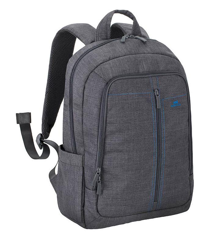 """NB BACKPACK CANVAS 15.6""""/7560 GREY RIVACASE"""