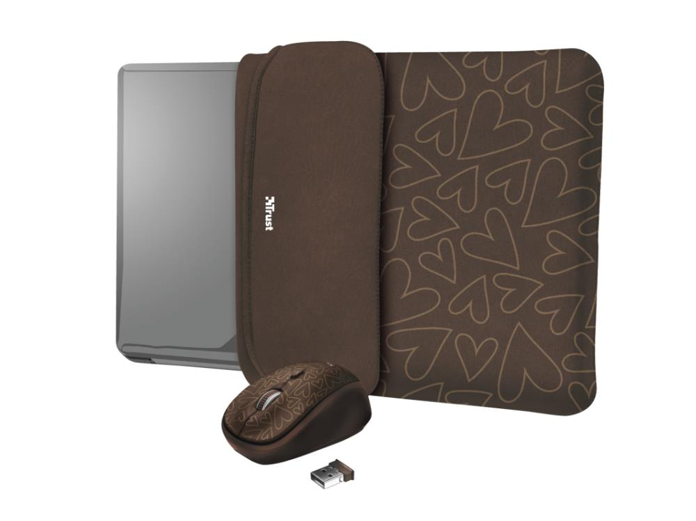 "NB SLEEVE +MOUSE 15.6"" YVO/REVERSIBLE BROWN 23446 TRUST"