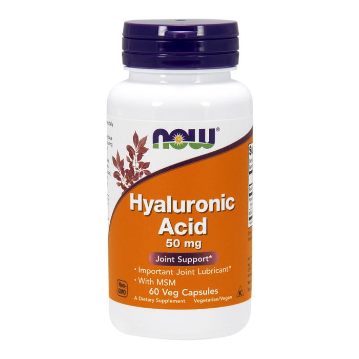 NOW Hyaluronic Acid 50 mg + MSM tabletid (60 tk)