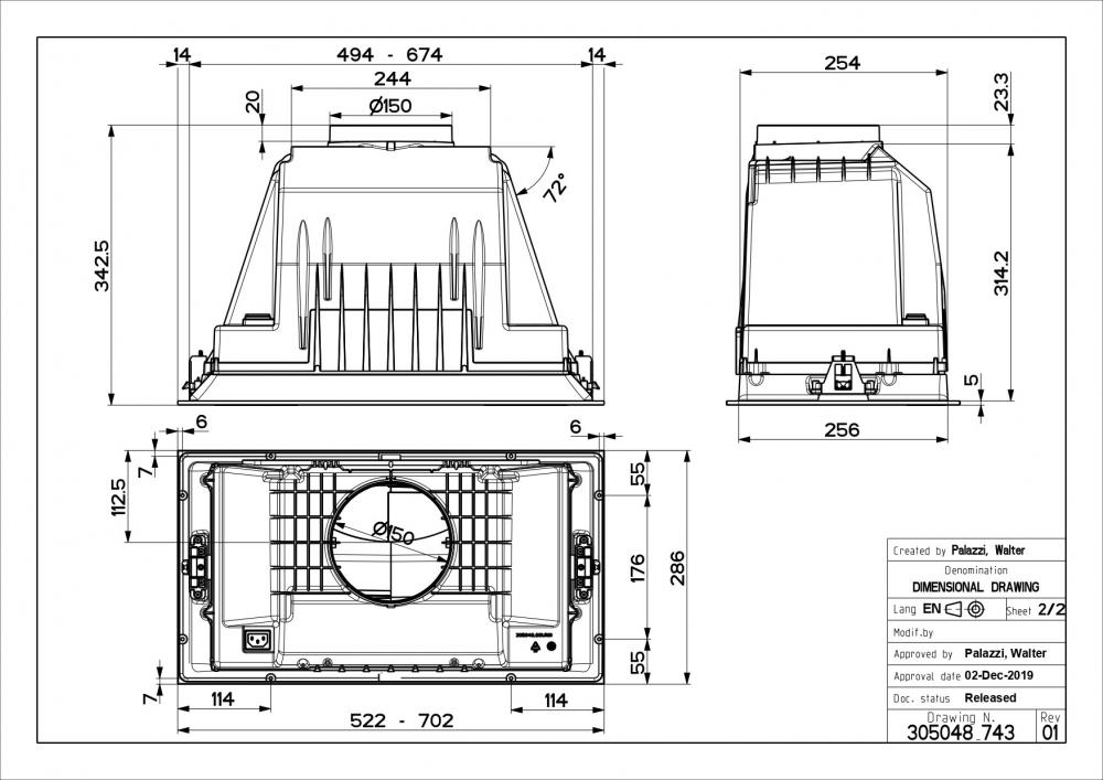 Õhupuhastaja Faber Inka Plus HCS X A70