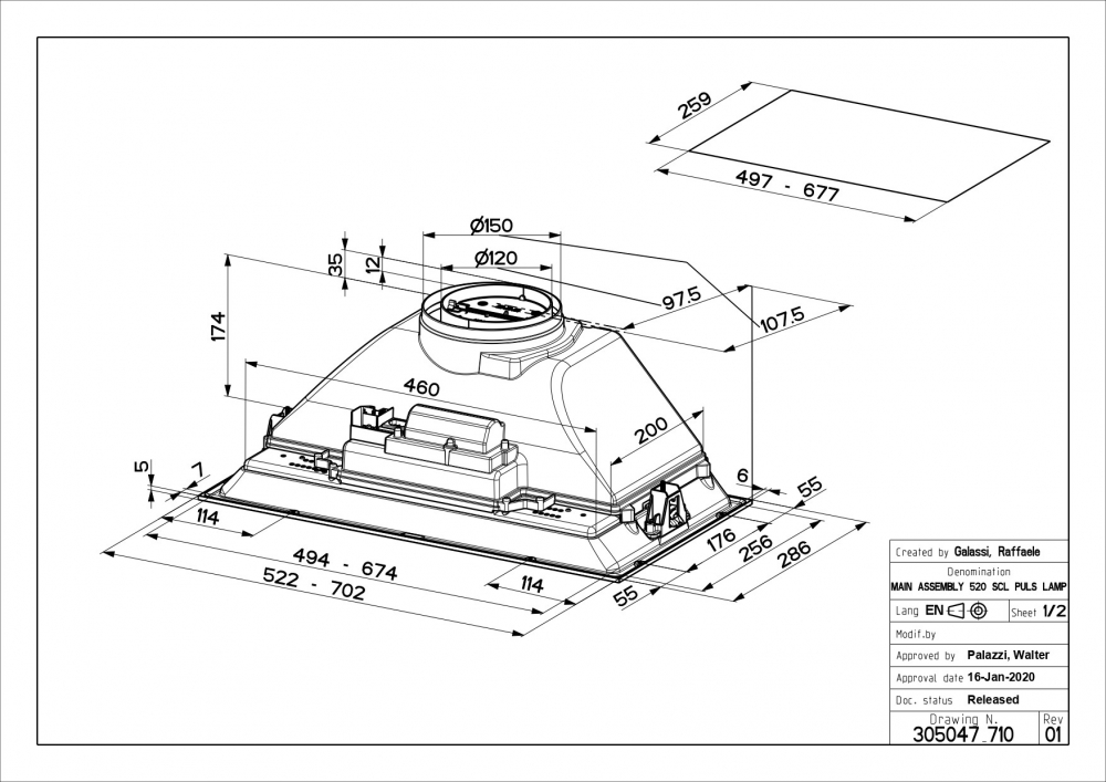 Õhupuhastaja Faber Inka Smart C LG A52