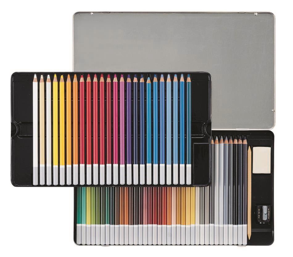 Pastellpliiats Stabilo CarbOthello - 60 värvi, metallkarp