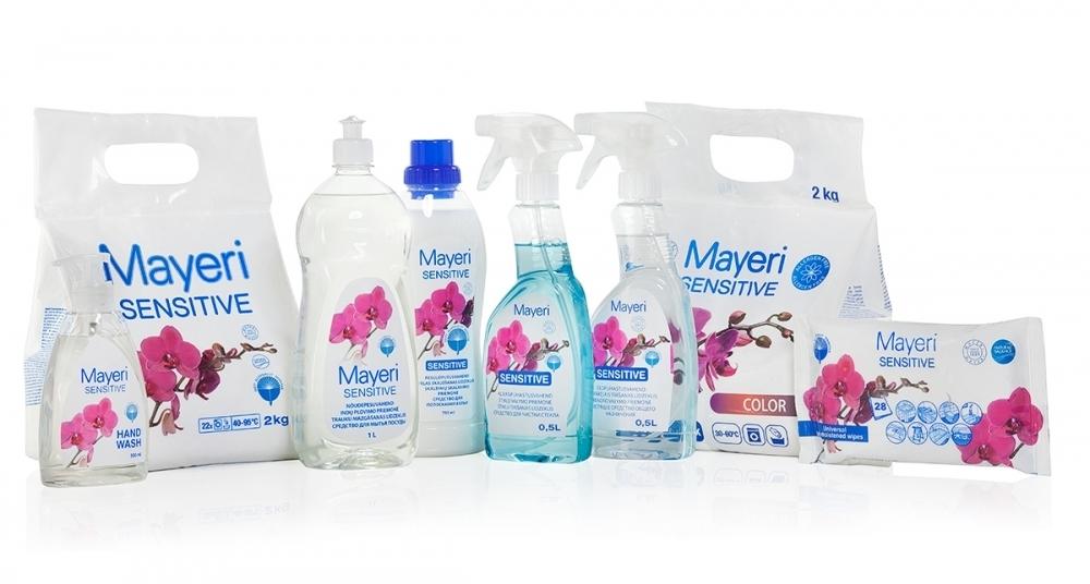 Pesu- ja puhastuskomplekt Sensitive – pesupulbriga
