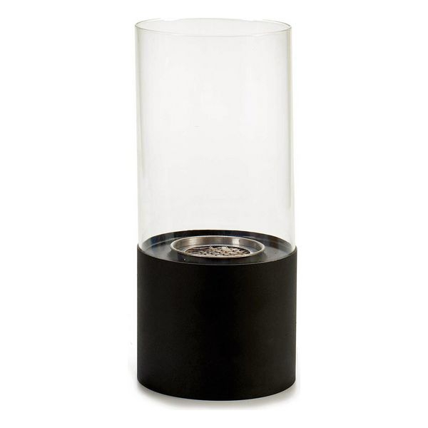 Põleti Must Metall Klaas Metall (12 x 26 x 12 cm)