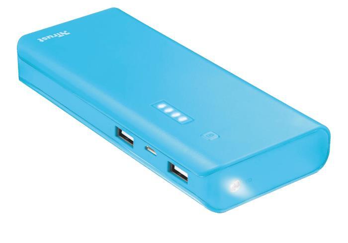 POWER BANK USB 10000MAH/BLUE PRIMO 22747 TRUST