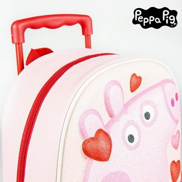 Ratastega 3D-kooliseljakott Peppa Pig Roosa