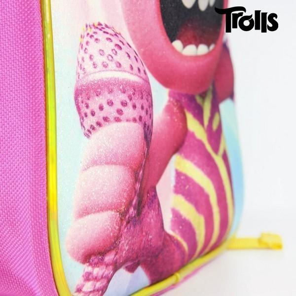 Ratastega 3D-kooliseljakott Trolls Roosa